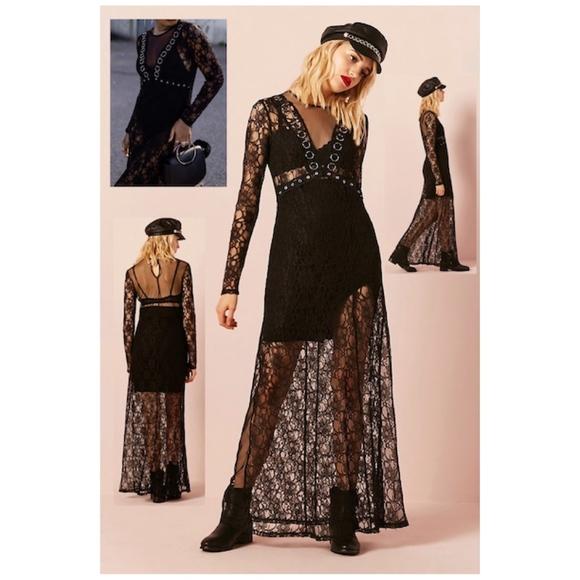 0b080951c Forever 21 Dresses   Womens Sheer Lace Maxi Dress Nwt   Poshmark